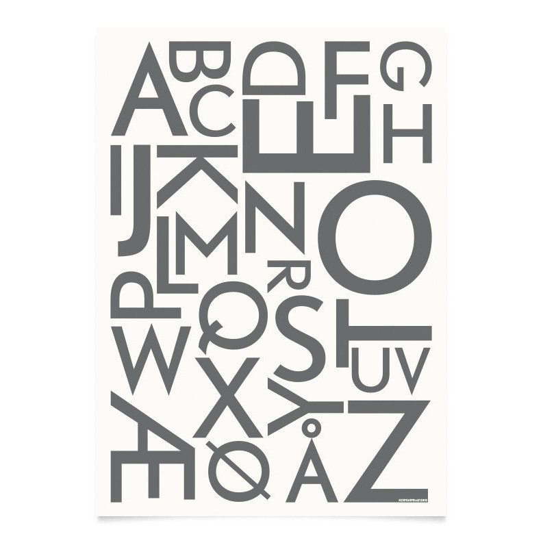 ABC Poster | Grau