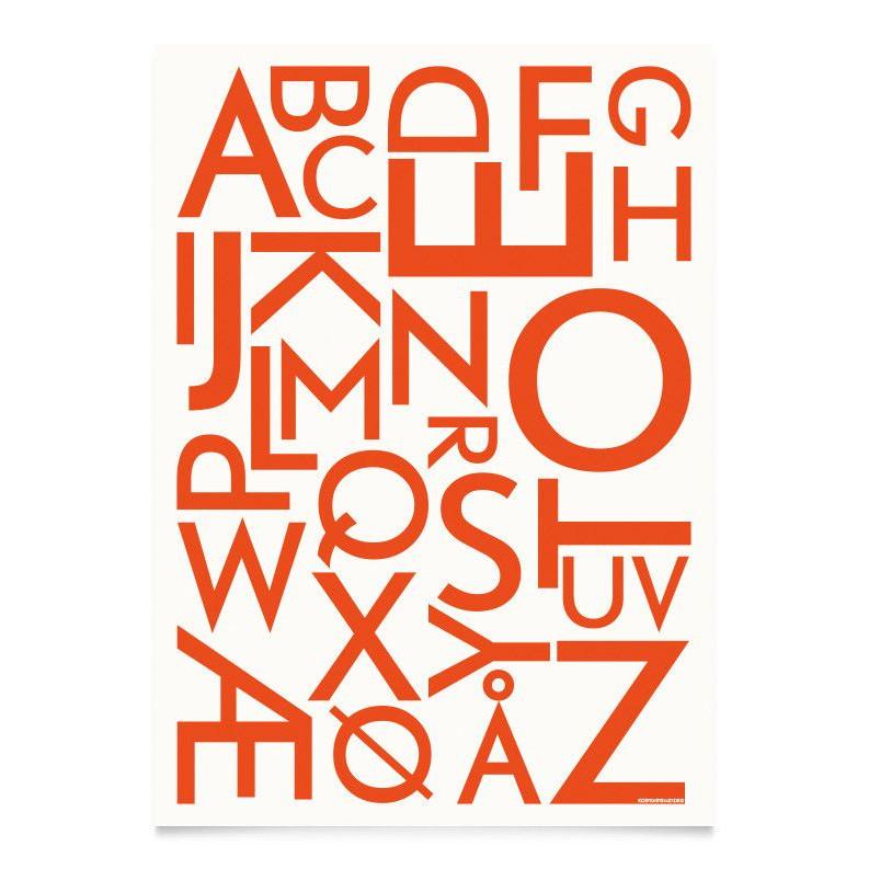ABC Poster | Neon Orange