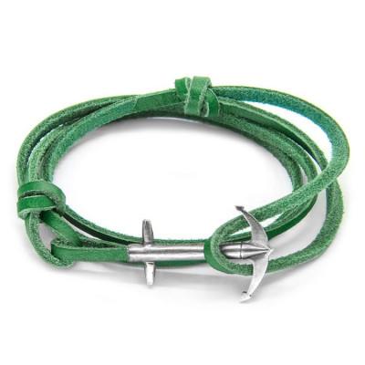 Leather Admiral Bracelet   Fern Green