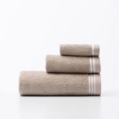 3er-Set Badetücher Tevere Be I Beige-Weiß
