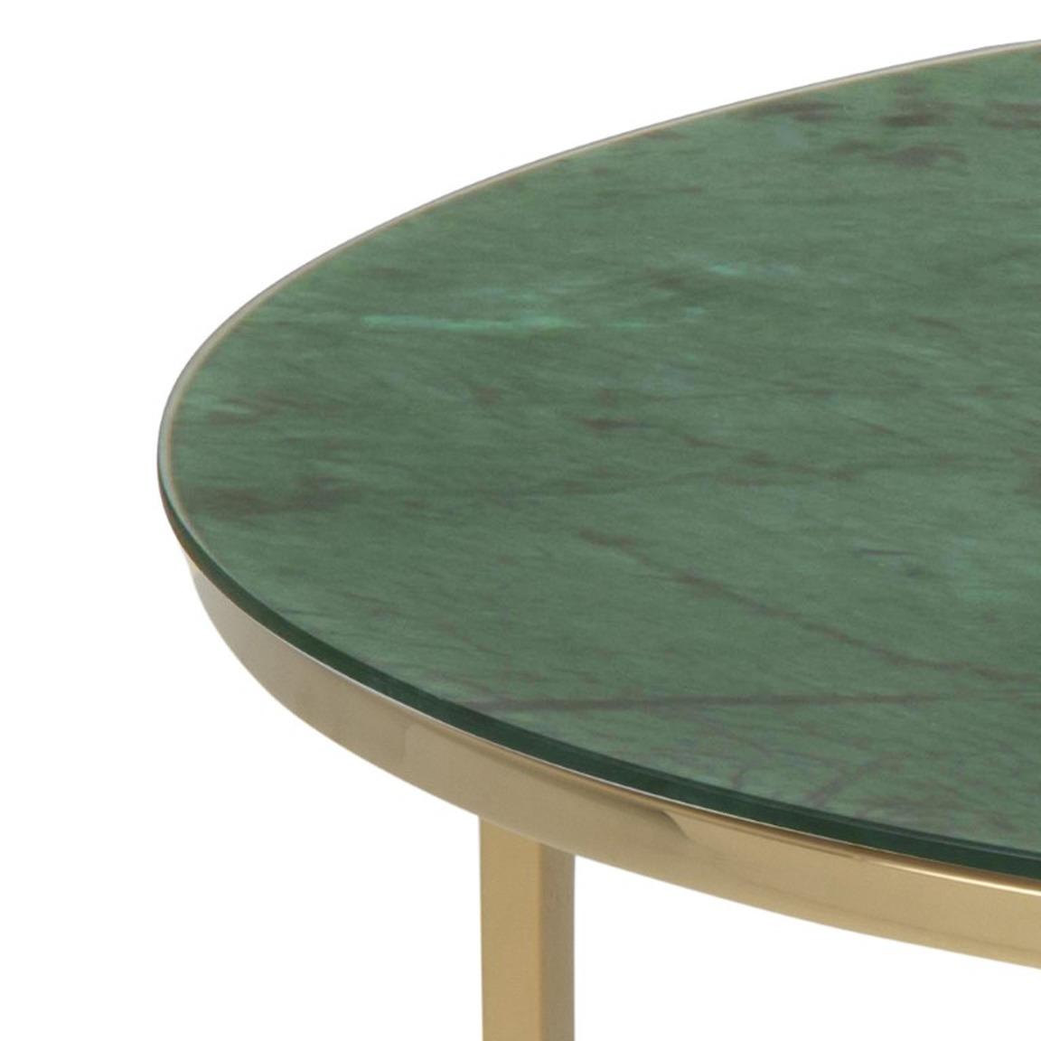 Couchtisch Alisma Ø 80 | Grüner Marmor