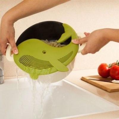 Plankton Plastic Pot Strainer   Avocado Green