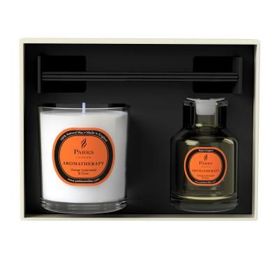 Diffusor & Kerzenset Orange, Zeder & Nelke
