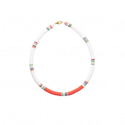 Halskette Charlie   White & Red