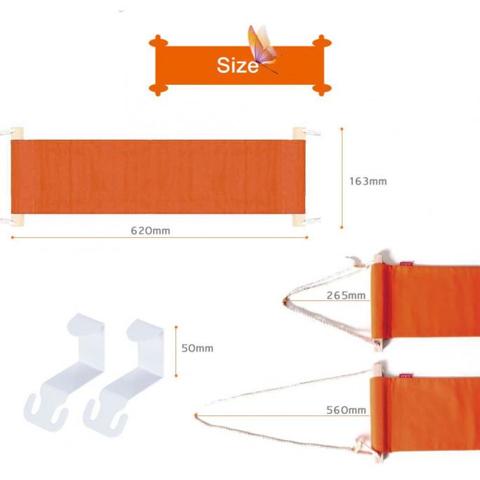 Unter Schreibtisch-Fuß-Hängematte   Orange