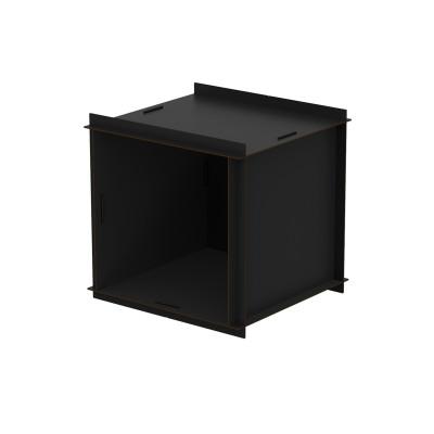 Doppelseitige offene Box mit Rückenwand Aerkit | Schwarz