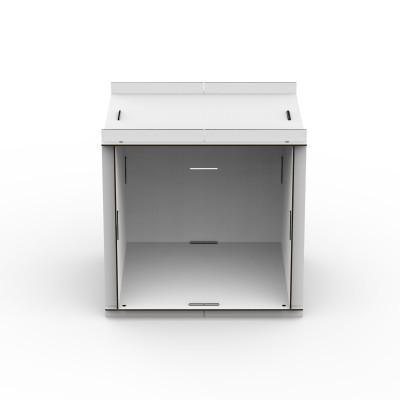 Doppelseitige offene Box mit Rückenwand Aerkit | Weiß