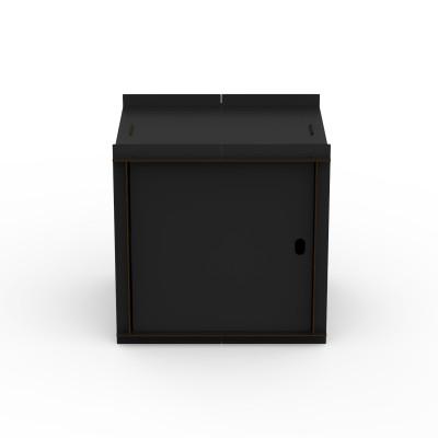 Doppelseitige Box mit Tür Aerkit | Schwarz