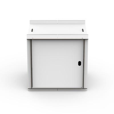 Doppelseitige Box mit Tür Aerkit | Weiß