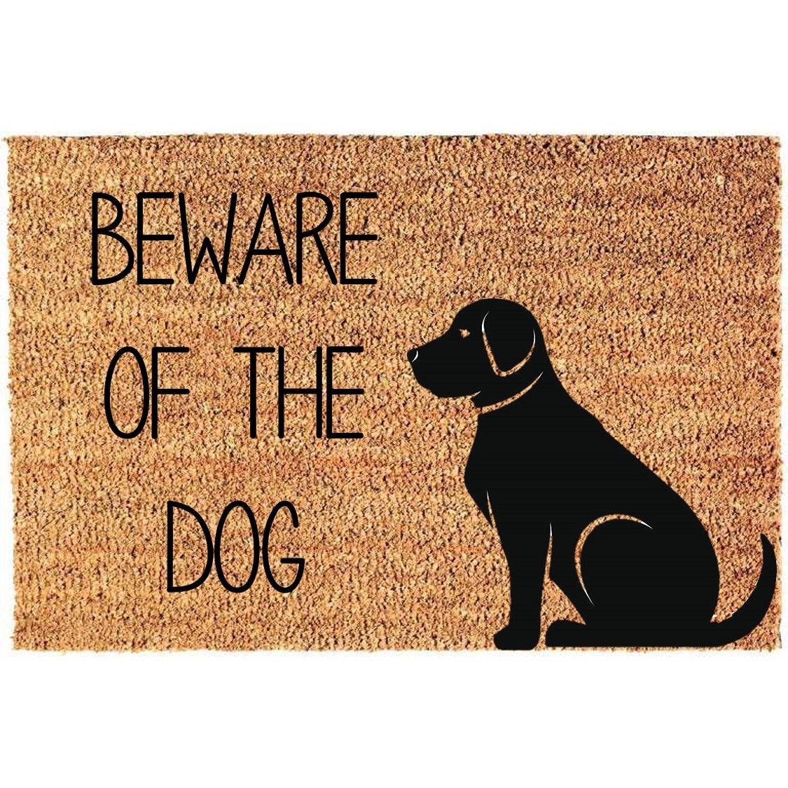 Fußmatte Vorsicht vor dem Hund