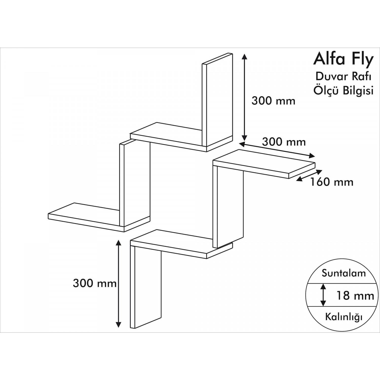 Shelf Alfa Set of 4 | Yellow