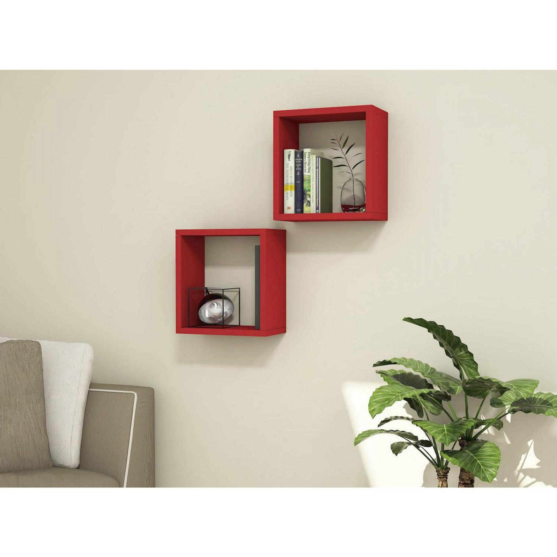 Shelf Alfa Set of 4 | Red