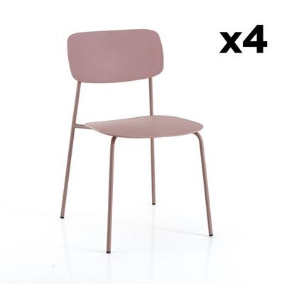 4er Set Stühle Primary I Rosa