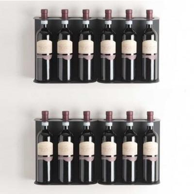 TEEwine Weinflaschenhalter Dunkelgrau | Set/4