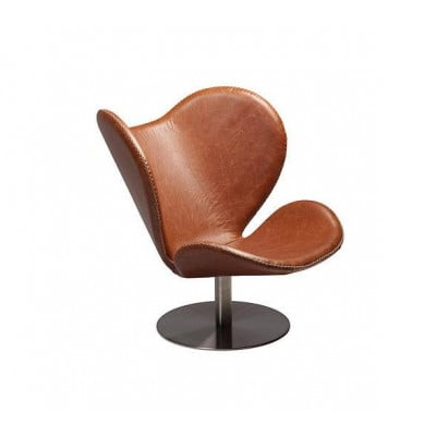 Butterfly Lounge Chair | Braunes Leder