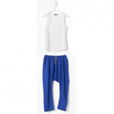 Pikku Pyjama Set | Weiß & Blau