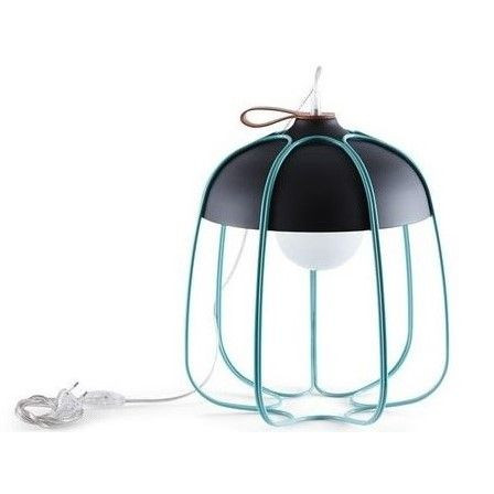 Tull Table Lamp   Anthracite/Turquoise