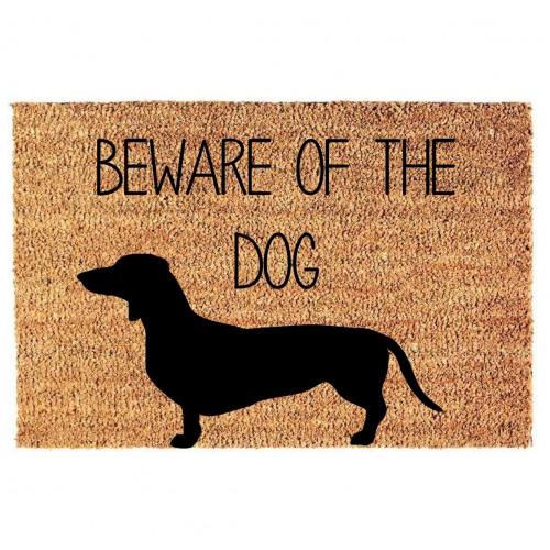 Fußmatte Vorsicht vor dem Hund | Teckel