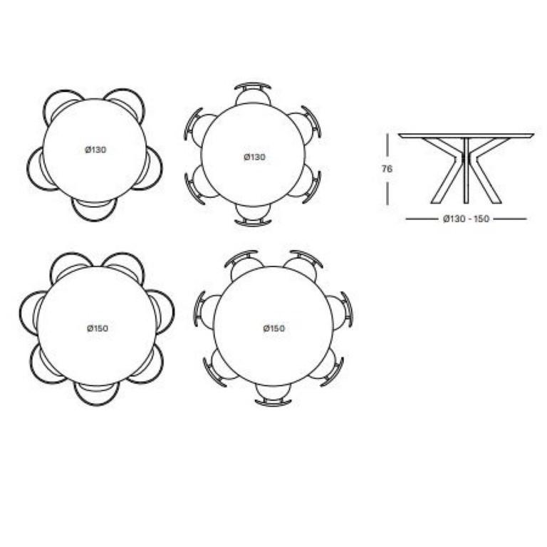 Runder Tisch Albert | Eiche Natur