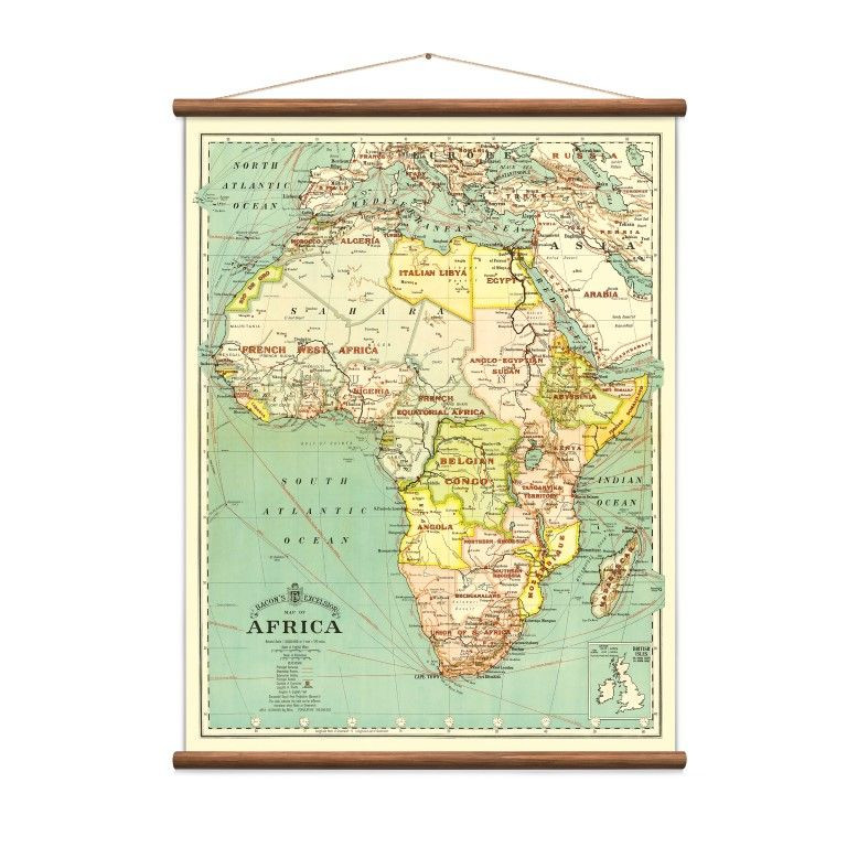 Vintage Karte Afrika