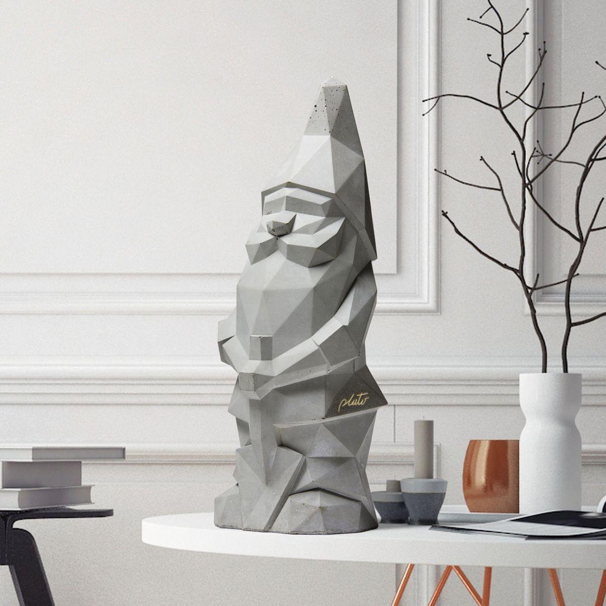 Concrete Garden Gnome   Grey