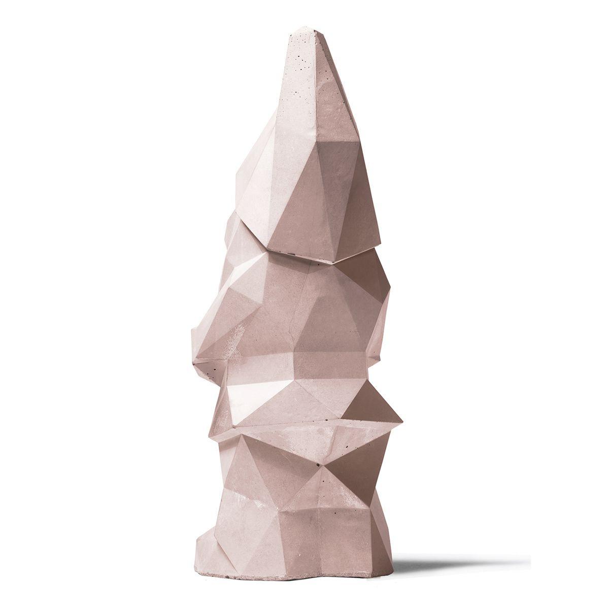 Concrete Garden Gnome   Pink