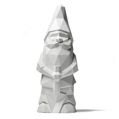 Concrete Garden Gnome | White