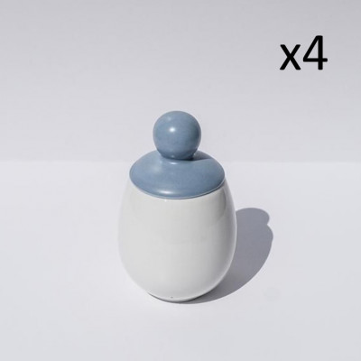 4er-Set Äggcøddler Sten | Blau