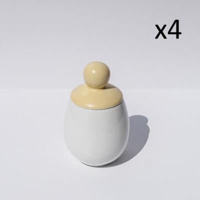 4er-Set Äggcøddler Helen | Gelb