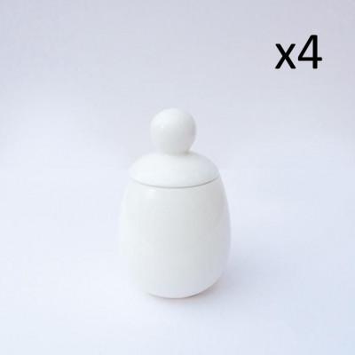 4er-Set Äggcøddler Malin | Weiß