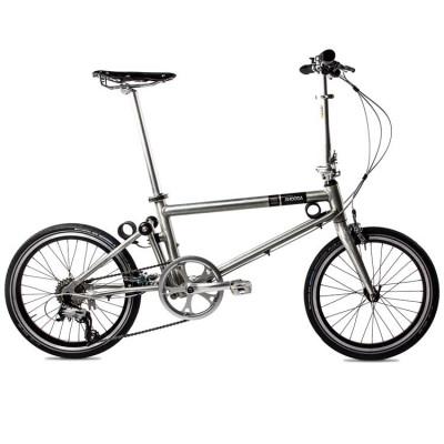 Foldable Bike Brushed Aluminium