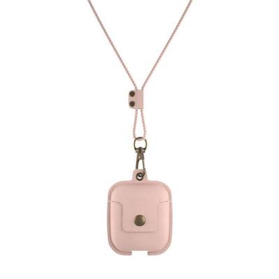 Halsketten-Etui für Ohrhörer | Pink