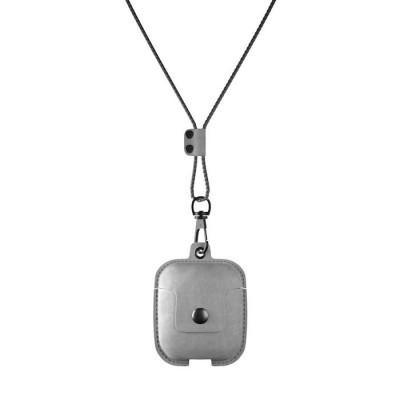 Halsketten-Etui für Ohrhörer | Grau