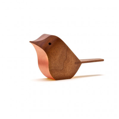 Bird Walnut | Metal Leaf Bronze