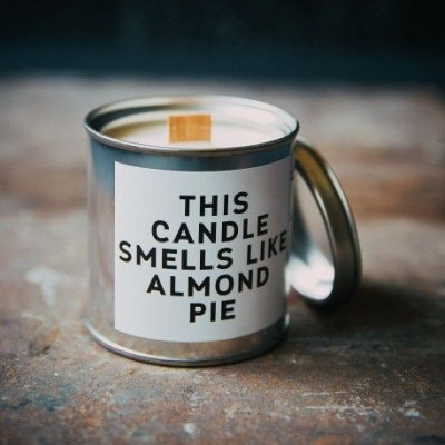 Scented Candle Can   Almond Pie