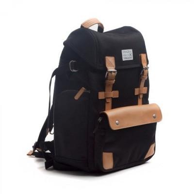 Alpine Rucksack Backpack | Black & Tan