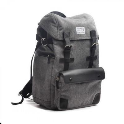 Alpine Rucksack Backpack | Grey & Black