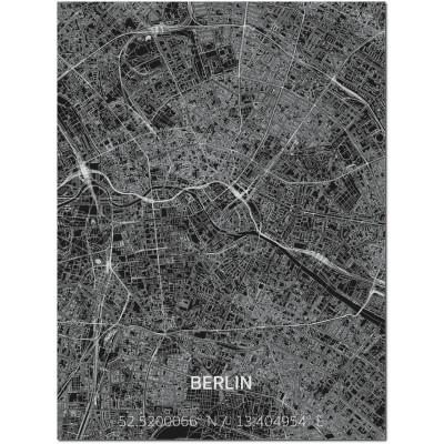Metall-Wanddekoration | Stadtplan | Berlin