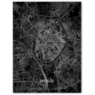Metall-Wanddekoration | Stadtplan | Bruges
