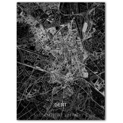 Metall-Wanddekoration | Stadtplan | Ghent