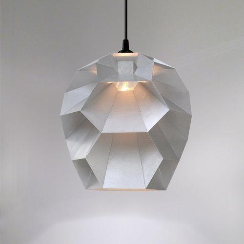 Beehive Lamp   Brushed Aluminium