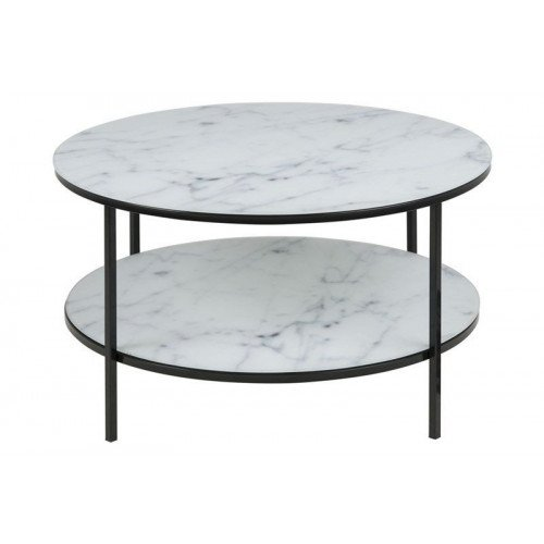 Coffee Table Ali Ø 80 Double | White Marble