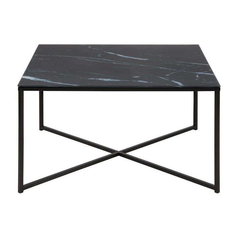 Coffee Table Ali 80 x 80 | Black Marble