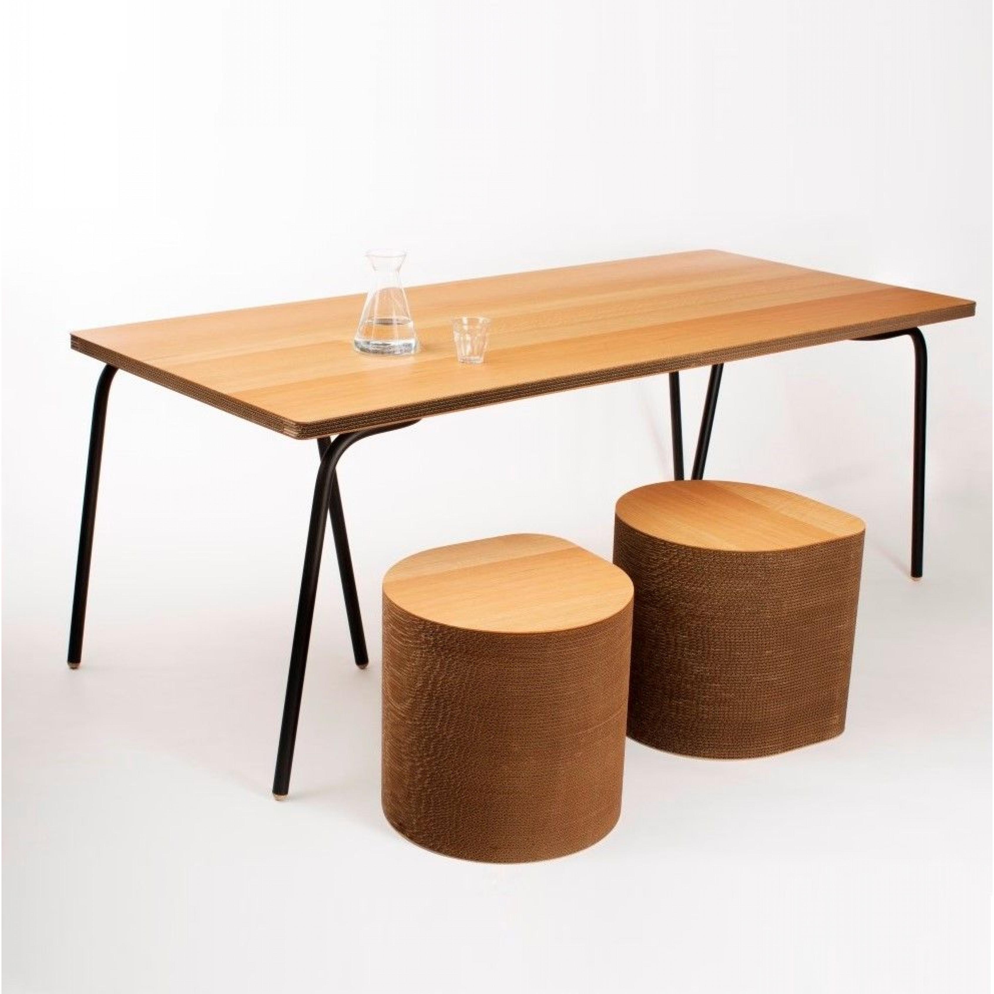 Tisch | Eiche & Schwarz