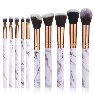 10er Set Make-up-Pinsel | Weiß