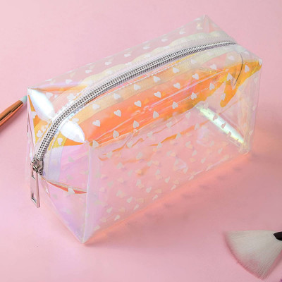 Kosmetiktasche | Transparent-Weiß