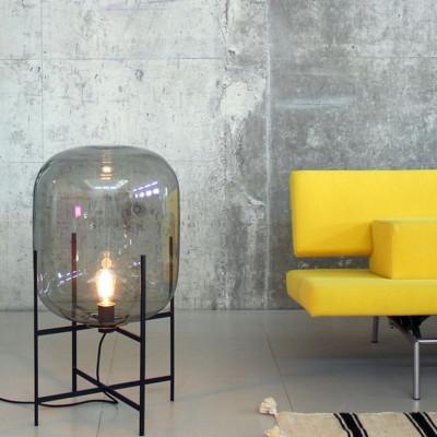 Oda Lampe | Grau/Schwarz
