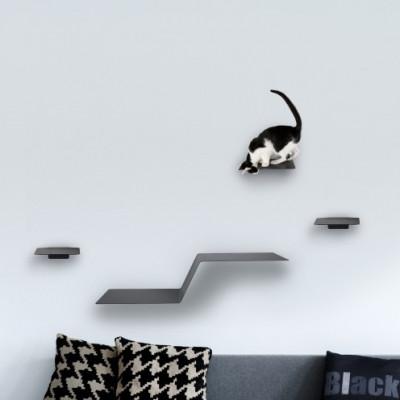 Kletterstufen Katzen WAVE + Satz von 3 STEPS | Anthrazit
