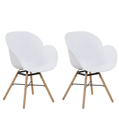 Chairs Amelie - Set of 2 | White
