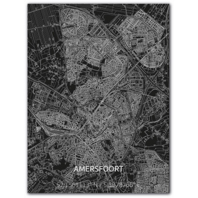 Metall-Wanddekoration | Stadtplan | Amersfoort